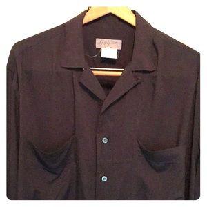 Yohji Yamamoto Iconic Big Shirt, Men's Sz M, black